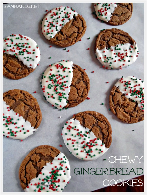 Chocolate-Dipped Molasses Cookies Recipe — Dishmaps