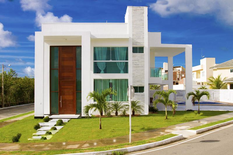 15 fachadas de casas com portas de entrada pain is altas - Fachadas grandes ...