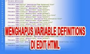 Variable Definitions Di Edit HTML Blog