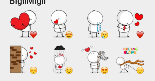 Stickers para telegram bigli mogli sticker pack for Donde venden stickers para pared