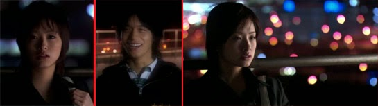 Misaki see Nakahara, played by Nishikido Ryo ( 錦戸亮 )  (にしきど りょう ). / She stares off into the night when she realizes he's not there.
