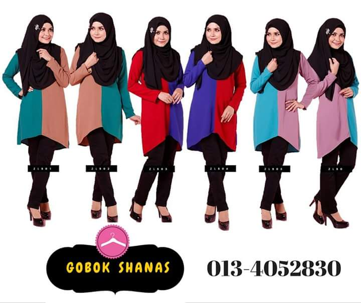 ZULAIKHA TWO TONES BLOUSE