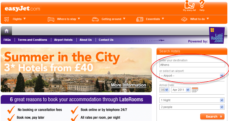 Easyjet Hotel Booking