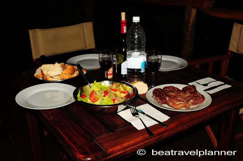 Cena al campo Windhoek