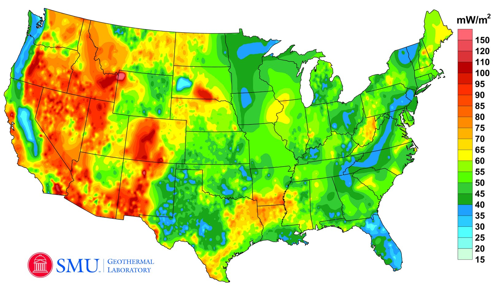 Official Googleorg Blog A New Geothermal Map Of The United States - Google map of the united states