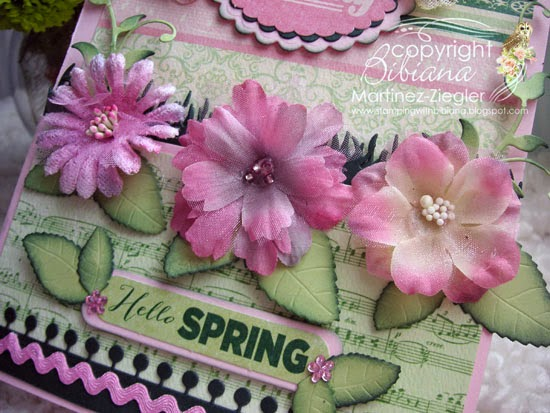 detail hello spring half gatefold card with petaloo