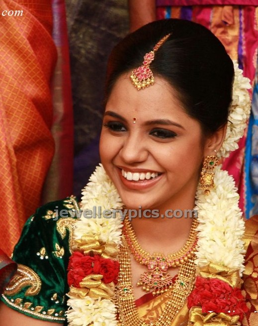 Singer Saindhavi Wedding Jewellery Latest Jewellery Designs