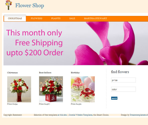 Ecommerce Site Name : The Best Flower Shop