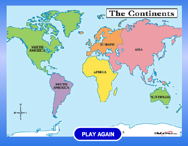 English funfan club geography game continents map geography game continents map do you like jigsaw puzzles can you arrange the pieces to make the world map click and drag the pieces to connect them all gumiabroncs Choice Image