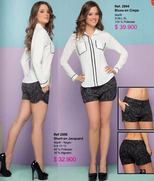 short con blusas de ryocco 2015-2