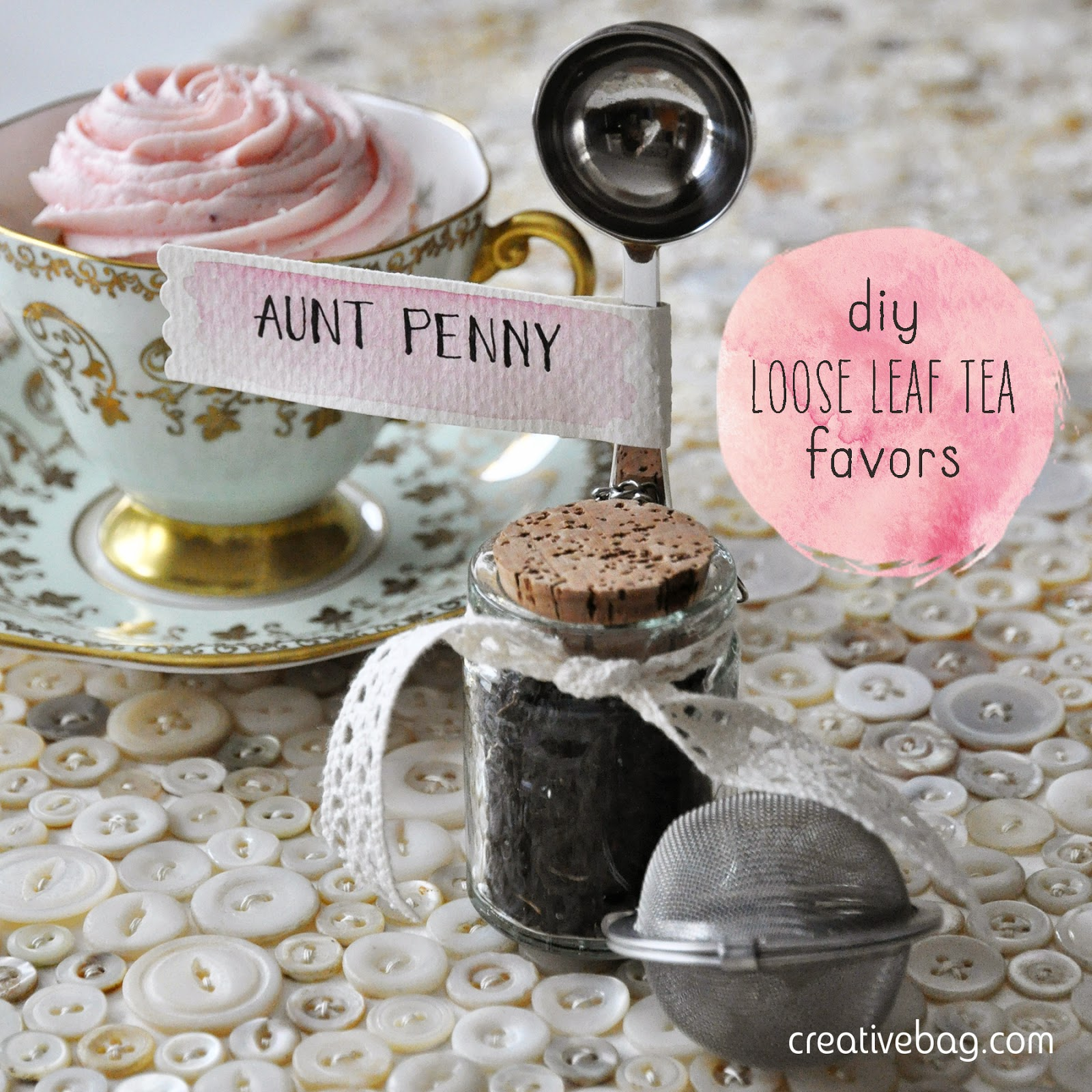 diy tea favor inspiration from Creative Bag