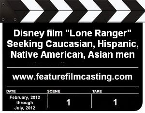 Disney Casting The Lone Ranger Extras