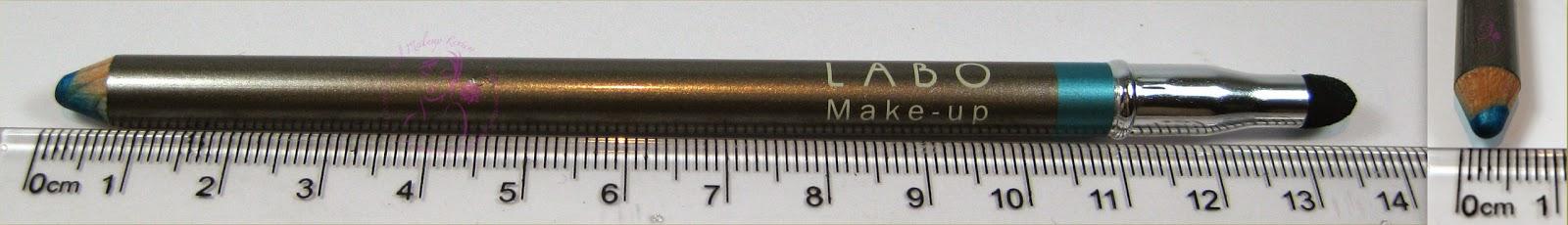 Labo Make-Up - Fashion Treatment Eye Pencil n° 12 -Turquoise/Turchese - dimensioni
