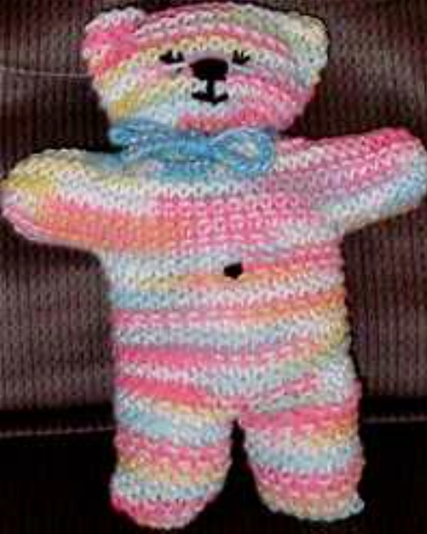 Knitted Teddy Bear Pattern For Charity : Dress a Child Around the World - UK