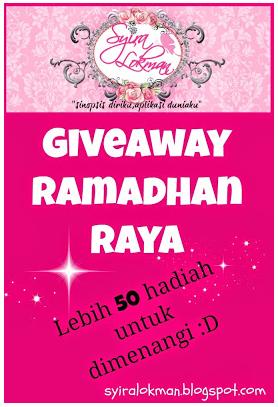 Giveaway Ramadhan Raya by Syira Lokman