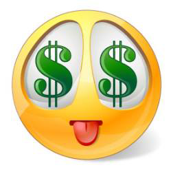 Money smiley