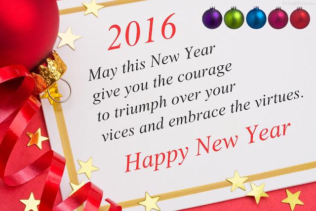Happy New Year Greetings 2016