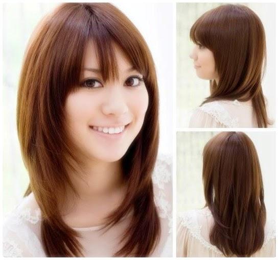 Model Gaya Potongan Rambut Panjang Terbaru Berbagai Bentuk Wajah