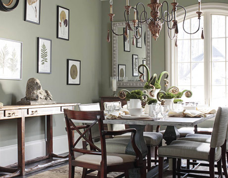 Gray Green Dining Room By Amelia Handegan. Gorgeous Glazed And Painted Pale Painted  Green Kitchen