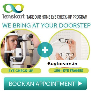 Eye Check Up at Home + Eyeglasses Try On Rs. 1 at Lesnkart