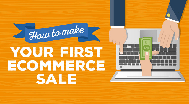 Social Media, SEO and Content Marketing - Make Your First eCommerce Sale - #infographic