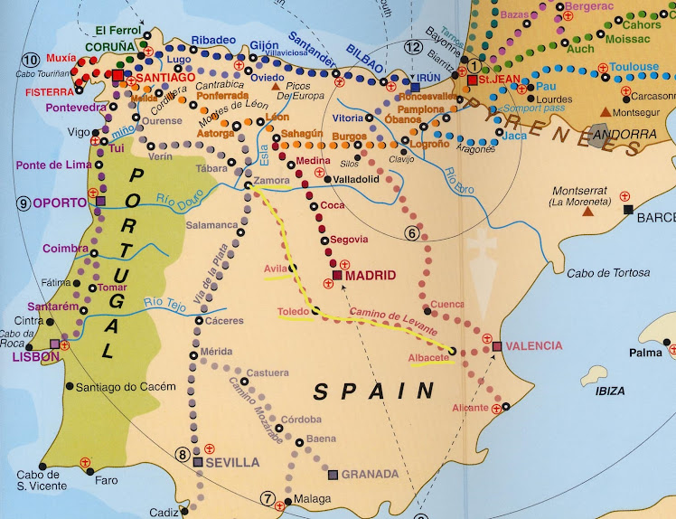 My Camino Route in 2017