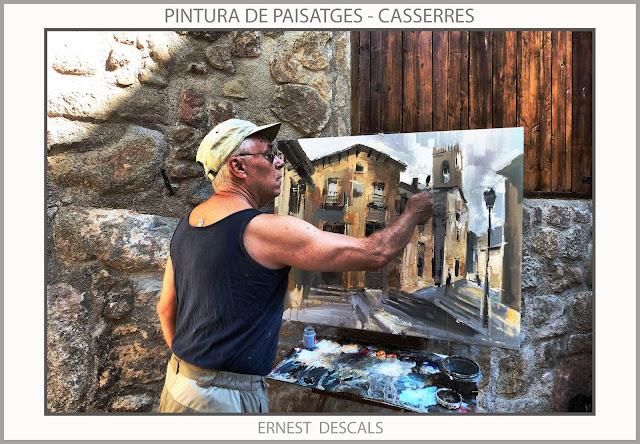 CASSERRES-PINTURA-PAISATGES-POBLES-CATALUNYA-FOTOS-PINTORS-ARTISTA-PINTOR-ERNEST DESCALS--