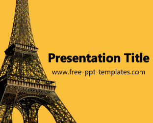 free paris word with eiffel tower ppt templates – free-powerpoint, Modern powerpoint