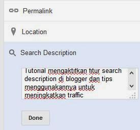 kotak search description artikel blogger