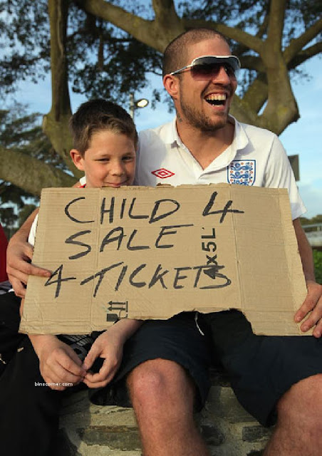 A family attempts to get tickets for the match between England and Algeria