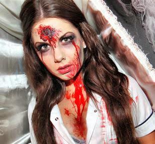 Maquillaje enfermera asesina