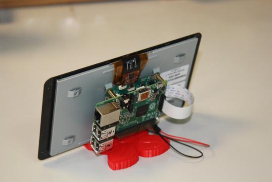 suporte display oficial raspberry pi