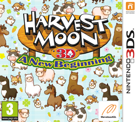 Harvest Moon 3D A New Beginning CIA 3DS EUR
