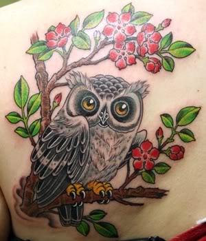 Native american owl tattoo - photo#23
