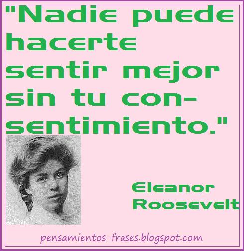frases de autoayuda de Eleanor Roosevelt