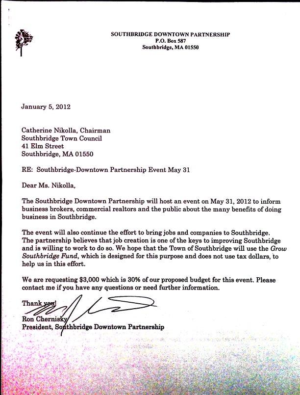 sample letter for event proposal