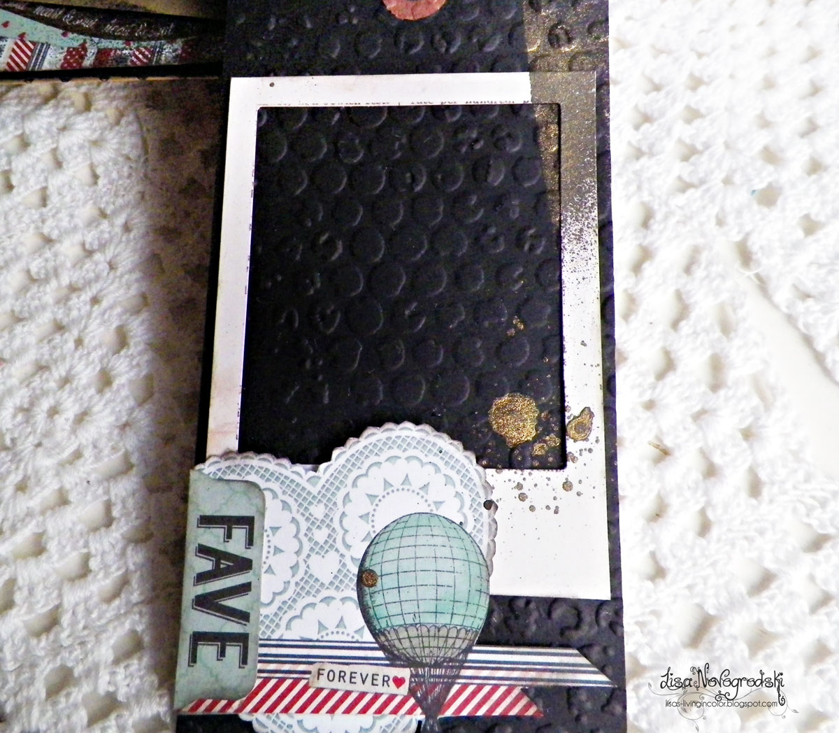 Tag Mini Album by Lisa Novogrodski for BoBunny using the Star Crossed Collection