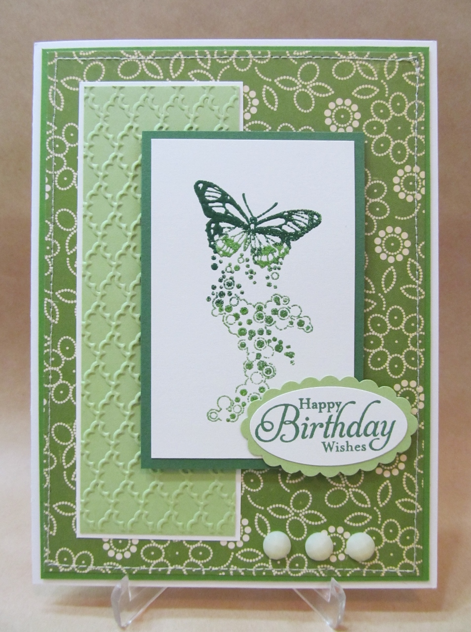 Savvy Handmade Cards Green Butterfly Birthday Card