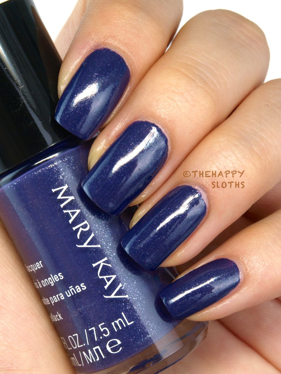 fall 2014 mary kay limited edition midnight jewels collection nail lacquer in sapphire noir review and swatches