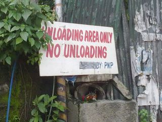 unloading and no loading funny asian sign