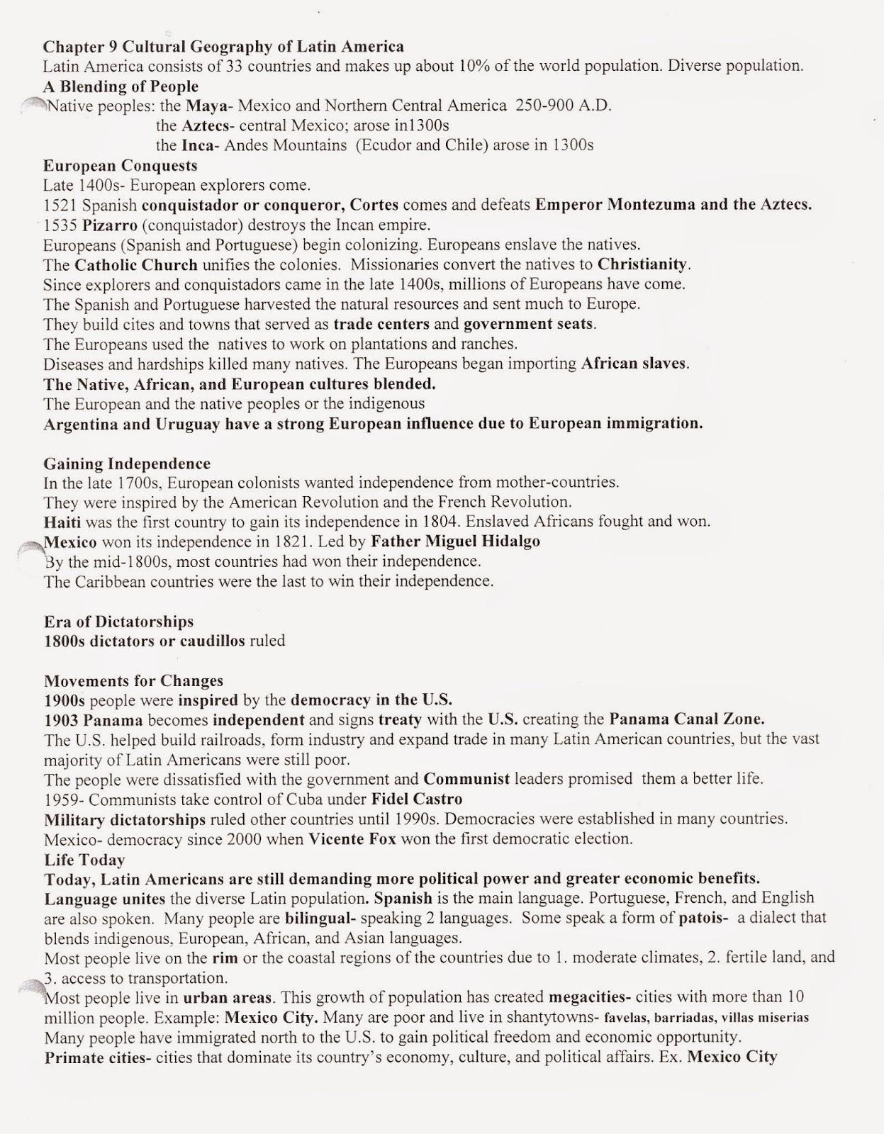 mr e s world geography page world geography chapter 9 the rh acewg blogspot com Rich Dollaz vs Tech 9 Ch 9 Syracuse NY