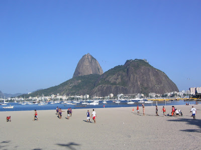 Sugarloaf Mountain view from the beach