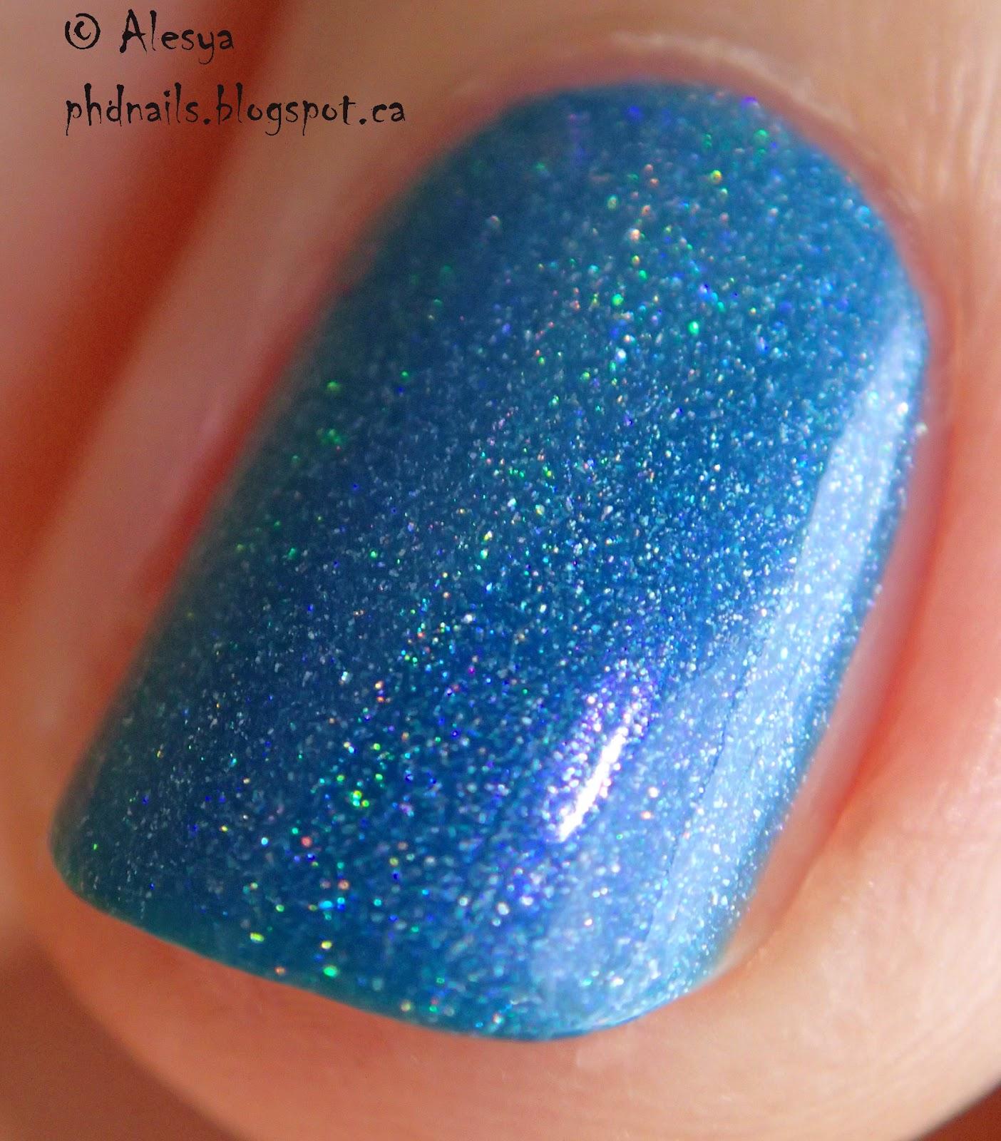 PhD nails: Enchanted polish gradient with El corazon