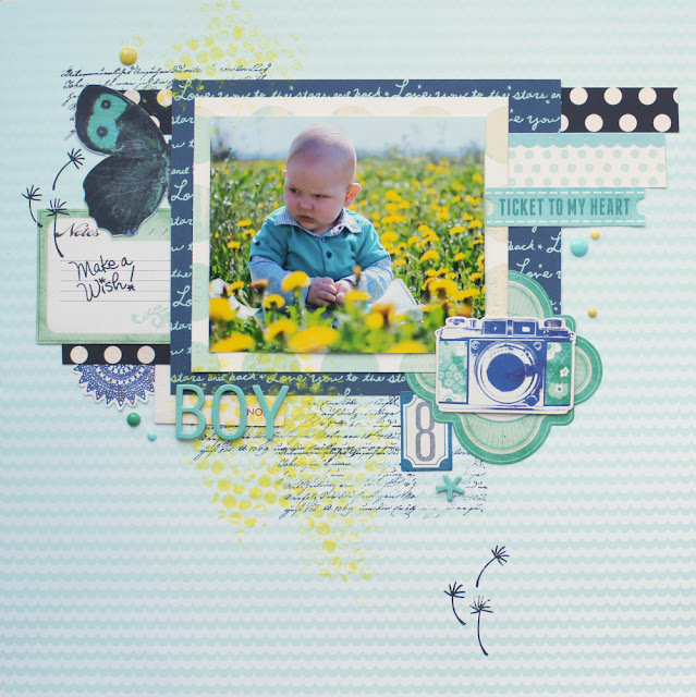Scrapbooking-Kit  im Juni - Layoutinspiration