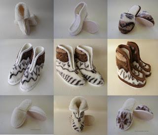 Hrejivé papuče z ovčej vlny Merino.