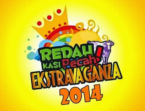 gambar Redah Kasi Pecah Extravaganza 2014, peserta dan aktiviti Redah Kasi Pecah Extravaganza 2014, Cari Kawan, Buat Kasi Betul, Redah Rewang Rewang