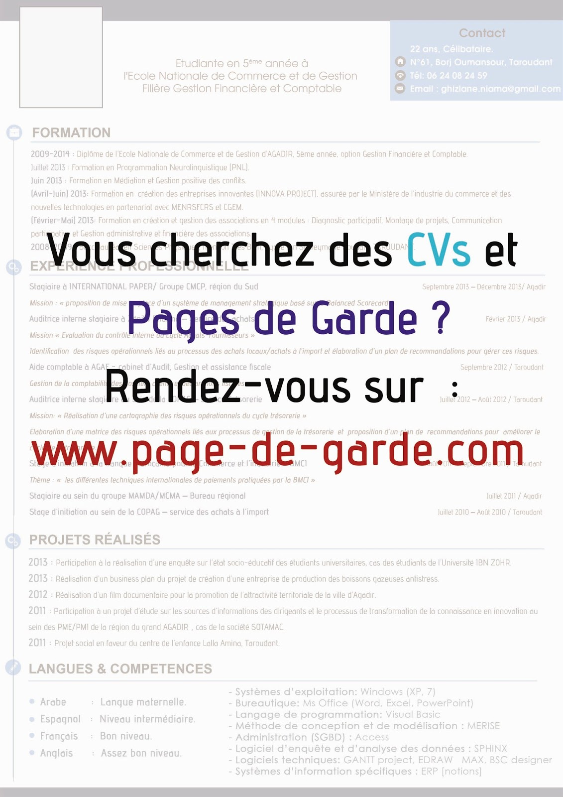 mod u00e8le de cv professionnel - format word 2007