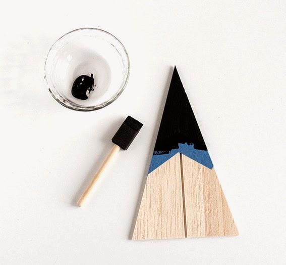 Diy pino de navidad de madera de okume o cartón9
