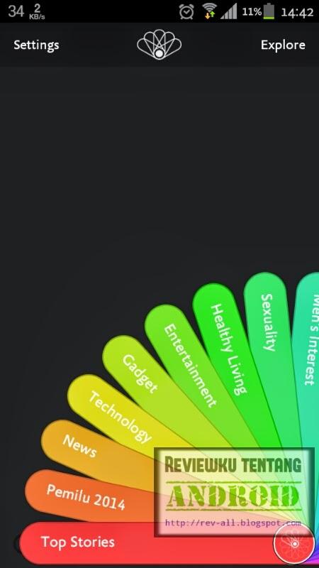 Tampilan utama aplikasi kurio versi 1.1.3 - aplikasi untuk mempermudah mendapatkan update berita nasional dan internasional (rev-all.blogspot.com)