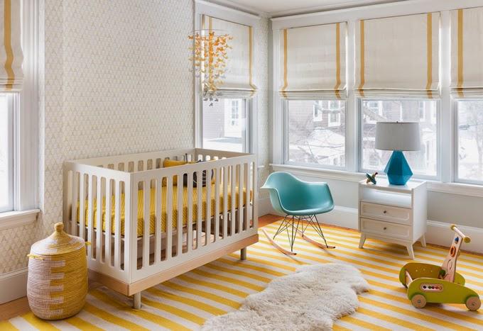 Una habitaci n infantil en amarillo y turquesa cocochicdeco for Habitacion blanca y turquesa